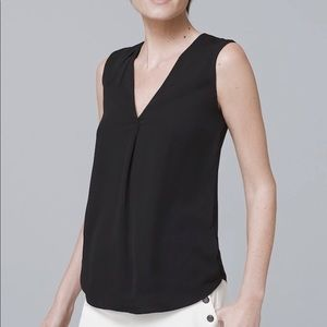 White House black market single pleat shell top